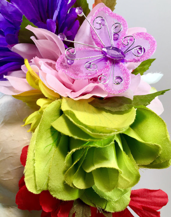 Mexican Women's Rainbow Flower Crown Wedding Headband