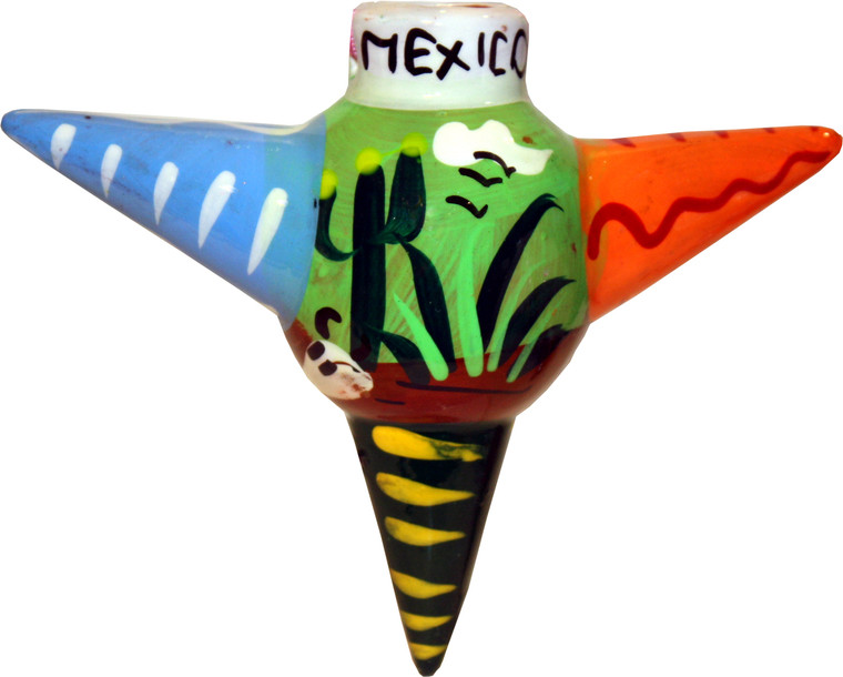 Mexican Pottery Christmas Ornament - Star 7