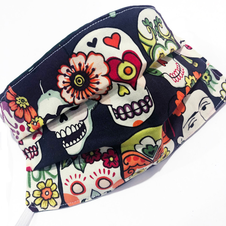 Face Mask Reusable Washable Cotton Mexican Frida Kahlo