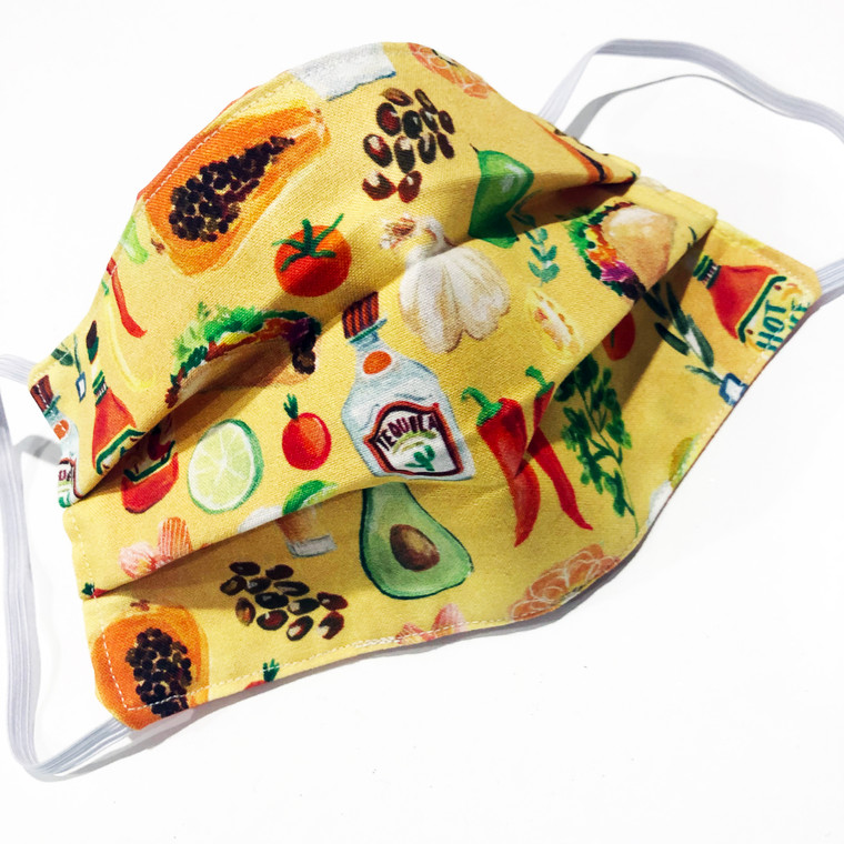 Face Mask Reusable Washable Cotton Mexican Tequila Lime