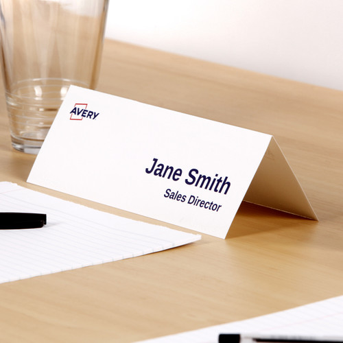 Avery Delegate Cards, 210 x 74.25 mm, 50 cards, 150 g/m² (947000 / L7423)