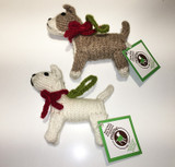 Chilly Dog Hand Knitted Bull & Terrier Dog Ornaments