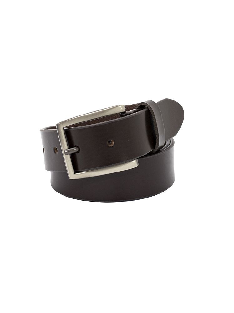 """Halston"", 35mm, Full Grain Buffalo Men's Leather Belt. Available in Black or Brown."