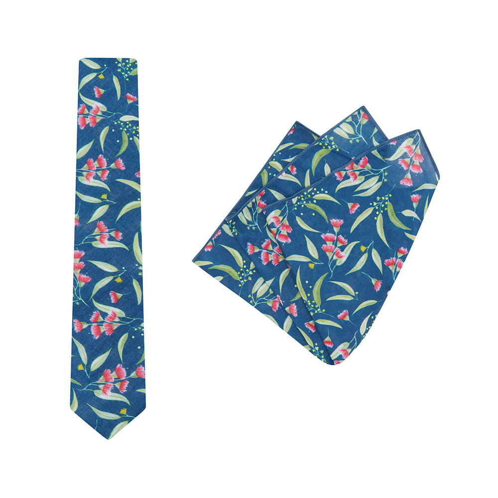Tie + Pocket Square Set, Ali Wilkinson 1, Teal. Supplied with matching pocket square.