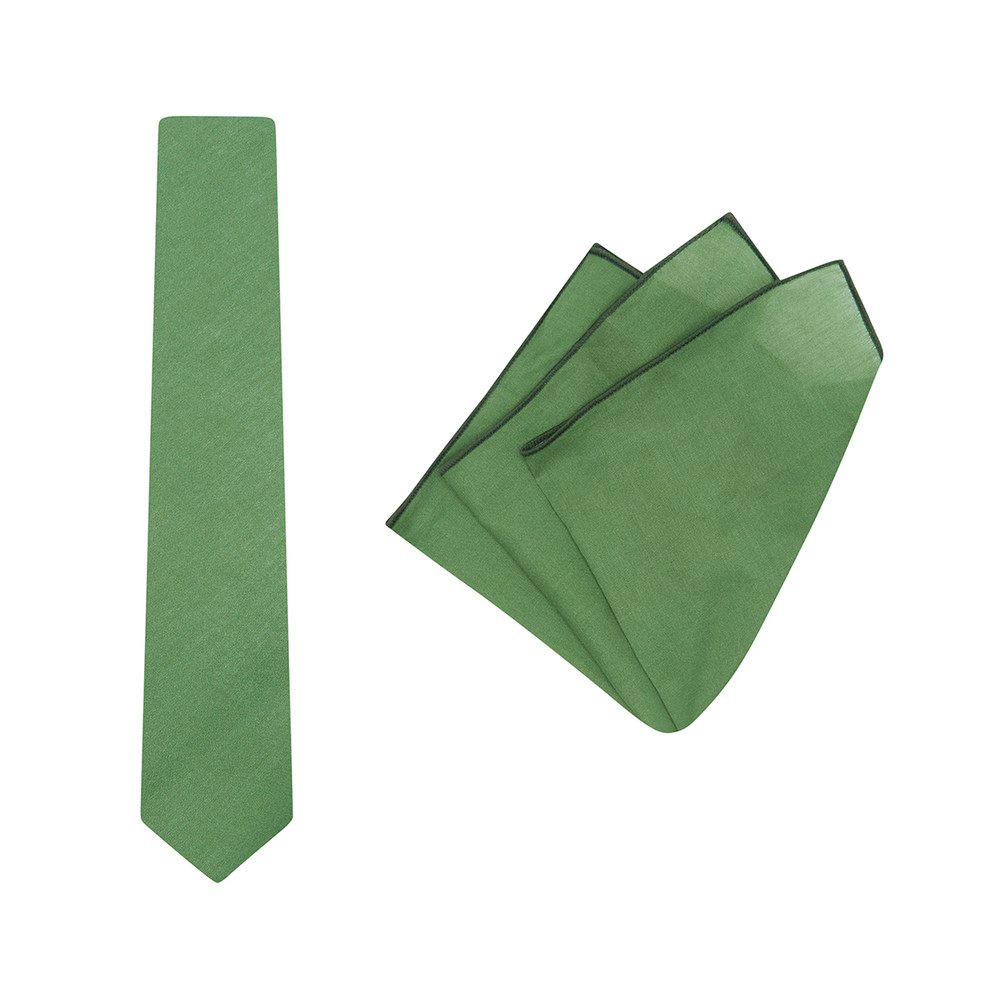 Tie + Pocket Square Set, Ali Wilkinson, Sage. Supplied with matching pocket square.
