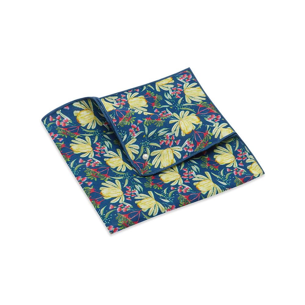 Pocket Square, Ali Wilkinson 2, Yellow.