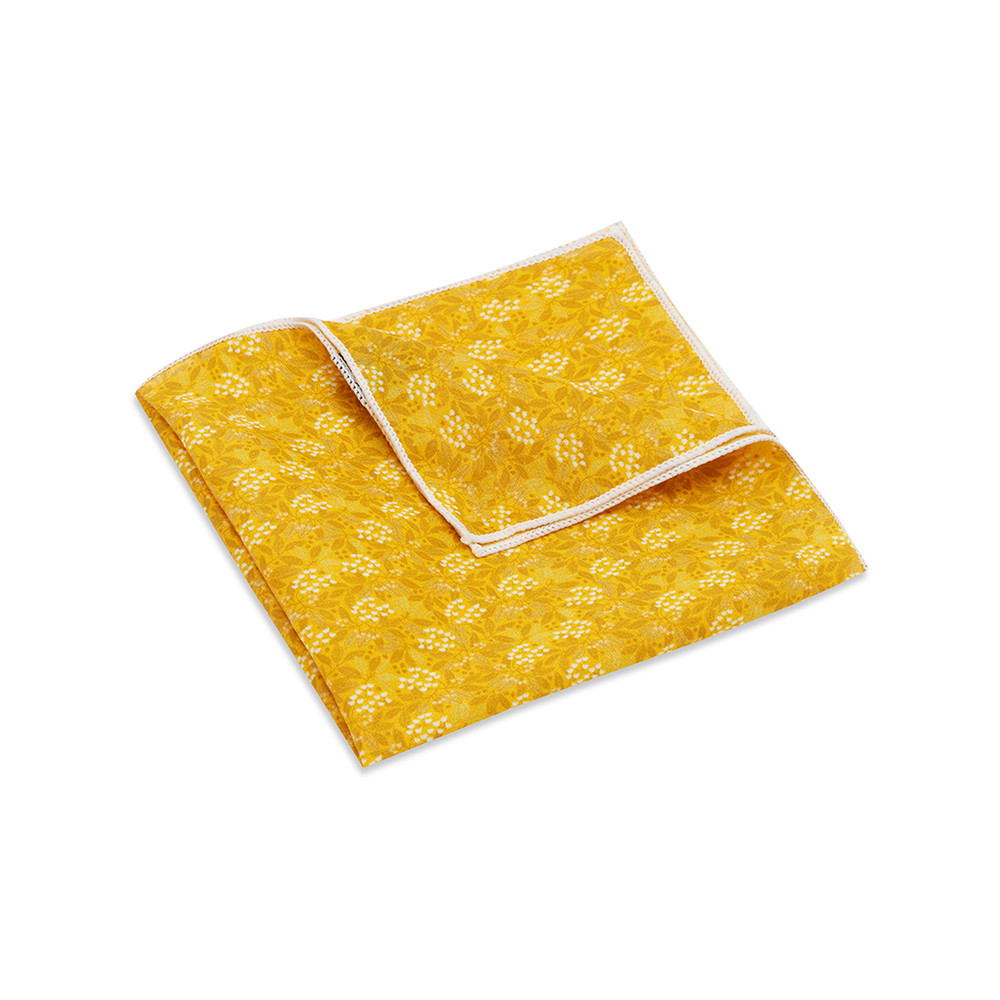 Pocket Square, Jocelyn Proust 4, Yellow.
