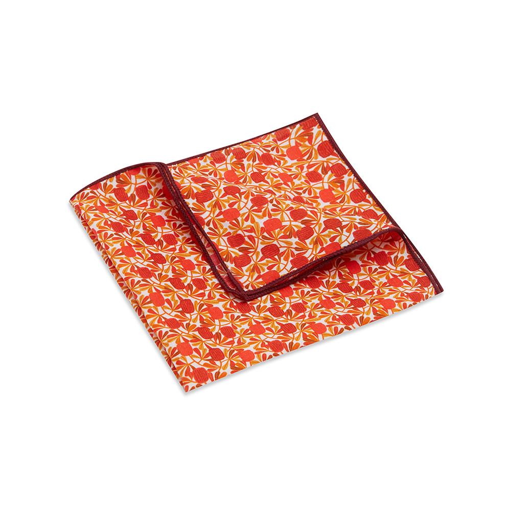 Pocket Square, Jocelyn Proust 6, Red/Beige
