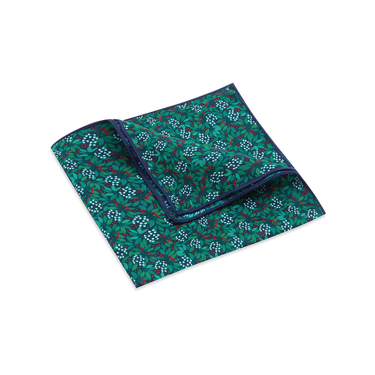 Pocket Square, Jocelyn Proust 4, Navy/Red.
