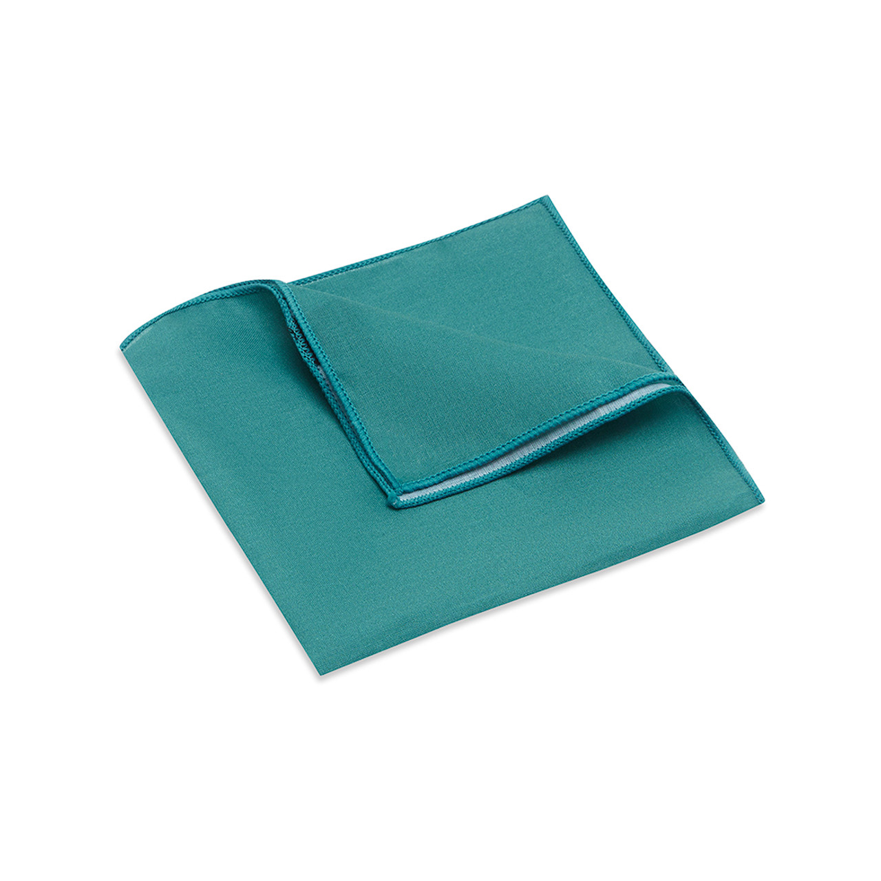 Pocket Square, Plain, Teal