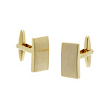 Rectangle Brushed Gold Cufflinks