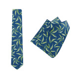 Tie + Pocket Square Set, Ali Wilkinson 3, Teal. Supplied with matching teal pocket square.
