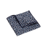 Pocket Square, Jocelyn Proust 1, Navy/Silver.