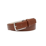 """""""Casablanca"""", 35mm, Men's Leather Belt. Available in Auburn and Tan."""