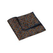 Pocket Square, Jocelyn Proust 6, Navy/Brown.