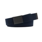 """""""Arlo"""", 38mm Men's Elastic Belt. Black and Navy."""