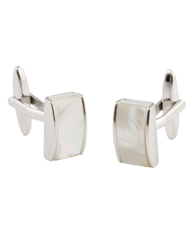 Rectangle Mother of Pearl Cufflinks