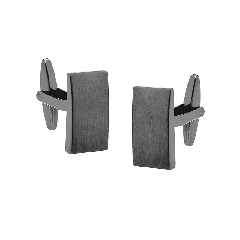Rectangle Brushed Gunmetal Cufflinks