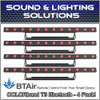 (4) Chauvet COLORband T3 BT RGB LED Linear Wash Light with built-in Bluetooth