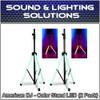 ADJ American DJ CSL100 Color Speaker Stand w/ LED Lighting w/IR Remote (2 Pack)