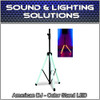 ADJ American DJ CSL100 Accu-Stand Color Speaker Stand w/ LED Lighting IR Control