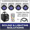 Chauvet DJ SlimPAR H6 USB Hex RGBAW+UV LED 4 Pack w/Extras