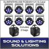 SlimPAR H6 USB Hex RGBAW+UV LED 8 Pack + 2 Bags