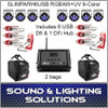SlimPAR H6 USB Hex RGBAW+UV LED 8 Pack + Extras!