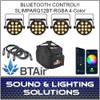 Chauvet DJ SlimPAR Q12 BT Wash Light (RGBA) with built-in Bluetooth BTAir 4 Pack Mobile