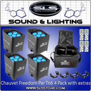 Chauvet DJ Freedom Par Tri 6 4 Pack + Extras!(PRE-order)