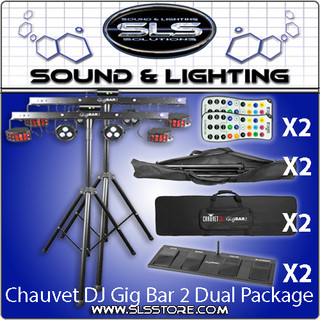 Chauvet DJ GigBAR 2 4-In-1 Complete Effect Light System 2 Piece Package