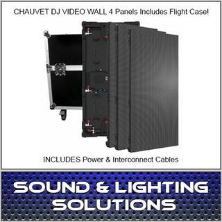 Chauvet DJ VIVID4X4 4.8MM VIDEO WALL PANEL KIT w/Case & Cables