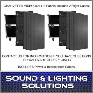 Chauvet DJ VIVID4X4 4.8MM VIDEO WALL 8 PANEL KIT w/ 2 Cases & Cables