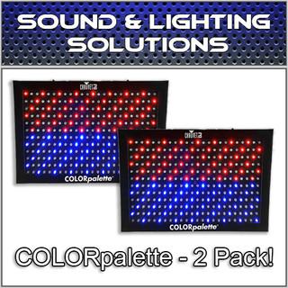 (2) Chauvet DJ COLORpalette 288 LED RGB Panel