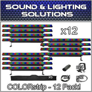 (12) Chauvet DJ COLORstrip LED Linear Wash Package