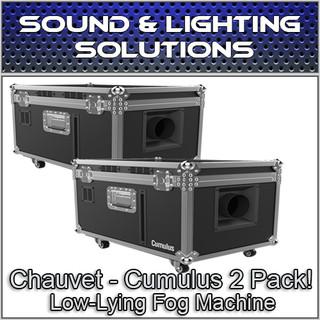 (2) Chauvet DJ Cumulus Professional DJ Club Party Low-Lying Fog Machine