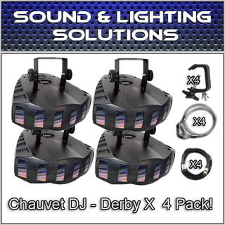 (4) Chauvet DJ Derby X Moonflower LED Effect Light Package