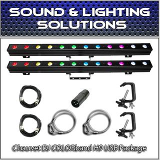(2) Chauvet DJ COLORband H9 USB Hex Package