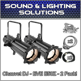 (2) Chauvet DJ EVE E-50Z 50W LED Warm White Gobo Projector Package