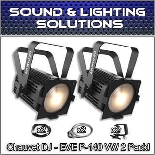 (2) Chauvet DJ EVE P-140 VW D-Fi USB DMX Stage Wash Light Package