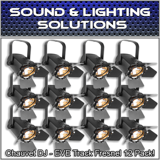 (12) Chauvet DJ EVE TF-20 LED Fresnel Accent Par Can Light w/Dimmers