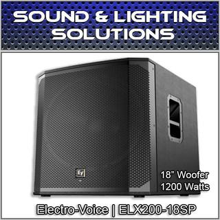 "EV Electro-Voice ELX200-18SP Powered 18"" 1200 Watt Subwoofer ELX200 18SP"