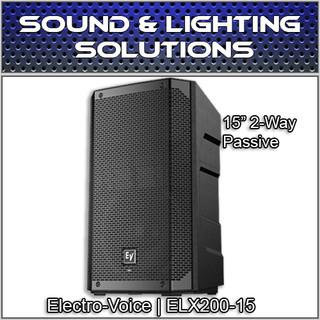 """Electro Voice ELX200-15 15"""" 2-Way Passive Speaker Monitor ELX20015"""
