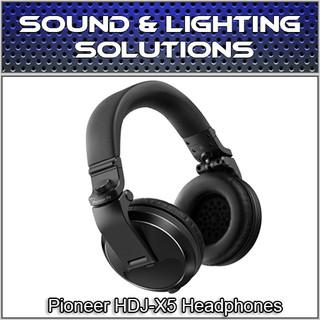 Pioneer HDJ-X5-K Over-Ear DJ Mixing Monitoring Detachable Cable Headphones (Black)