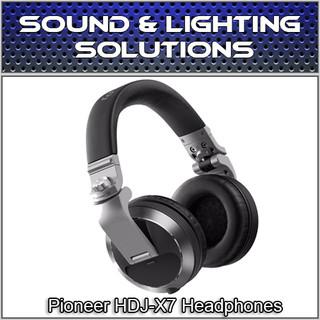 Pioneer HDJ-X7-S Professional Over-Ear DJ Headphones w/ Detachable Cables (Silver)