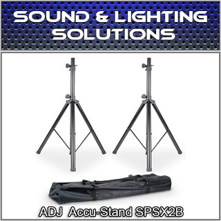 ADJ American DJ Accu-Stand SPSX2B Speaker Stand w/Carry Bag (Pair)