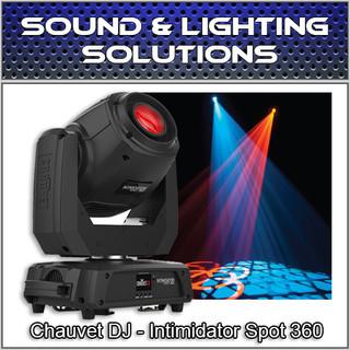 Chauvet DJ Intimidator Spot 360 Black 100W Dual Prism Moving Head