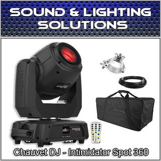 Chauvet DJ Intimidator Spot 360 Black 100W Dual Prism Moving Head w/Bag & Extras