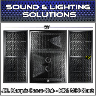 JBL Marquis Dance Club High Power Loudspeaker MD2 MD3R & MD3L Package