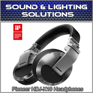 Pioneer HDJ-X10S Professional DJ Headphones w/ Detachable Cables (Silver)